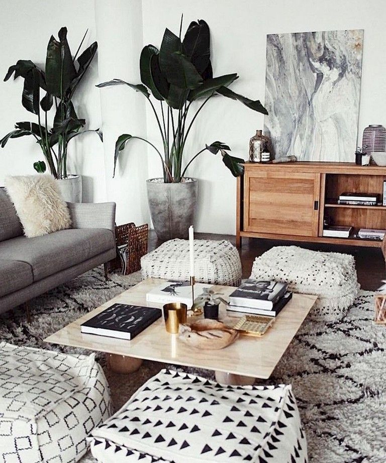 78+ Comfy Modern Bohemian Living Room Decor and Furniture Ideas
