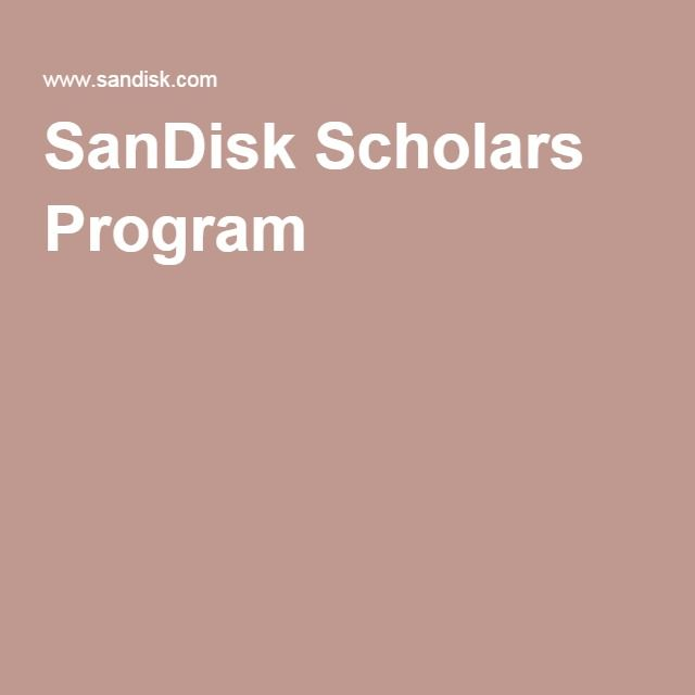 SanDisk Scholars Program college + scholarships Pinterest - new 10 personal statement for scholarship