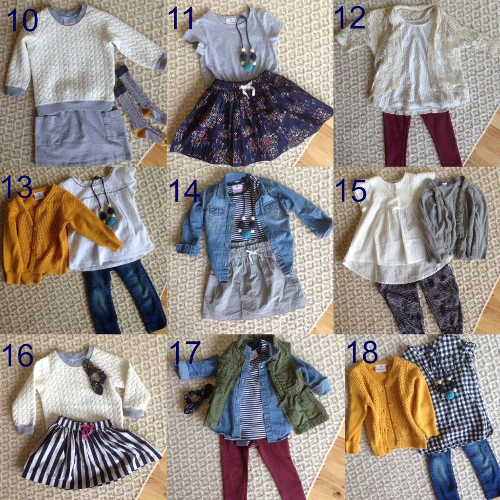 4d2b3db08c45 Creating a mini capsule wardrobe for a little girl with  hanna + 31 ...