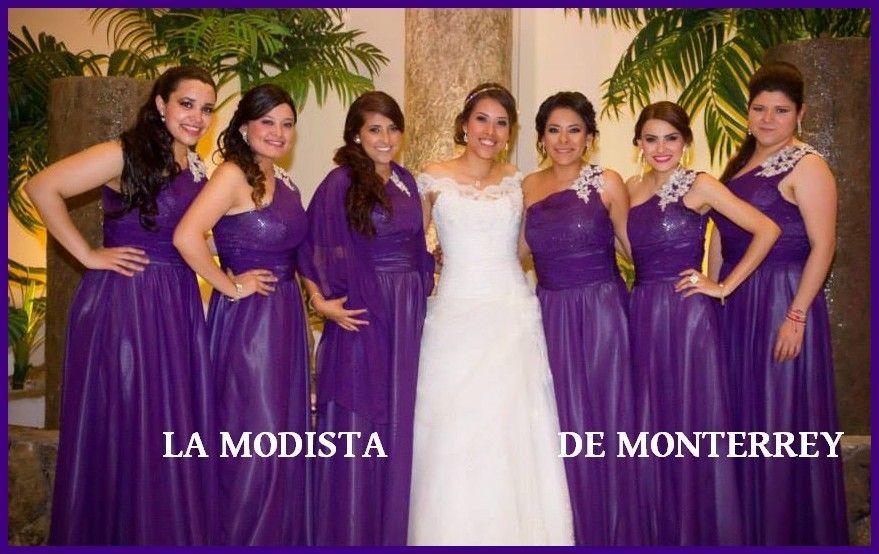 Muy bellas La Novia (Tats Ortiz) y sus amigas con los vestidos de ...