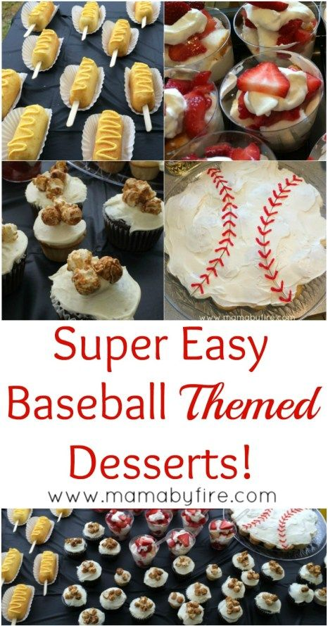 Baseball Themed Dessert Table Mama By Fire Blog