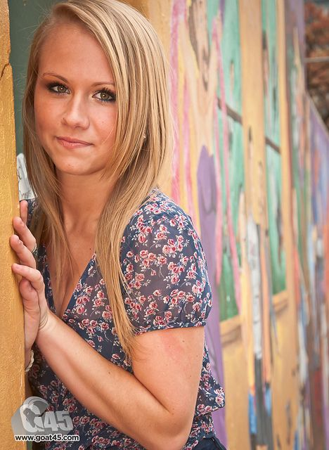 senior photos colorful background n top