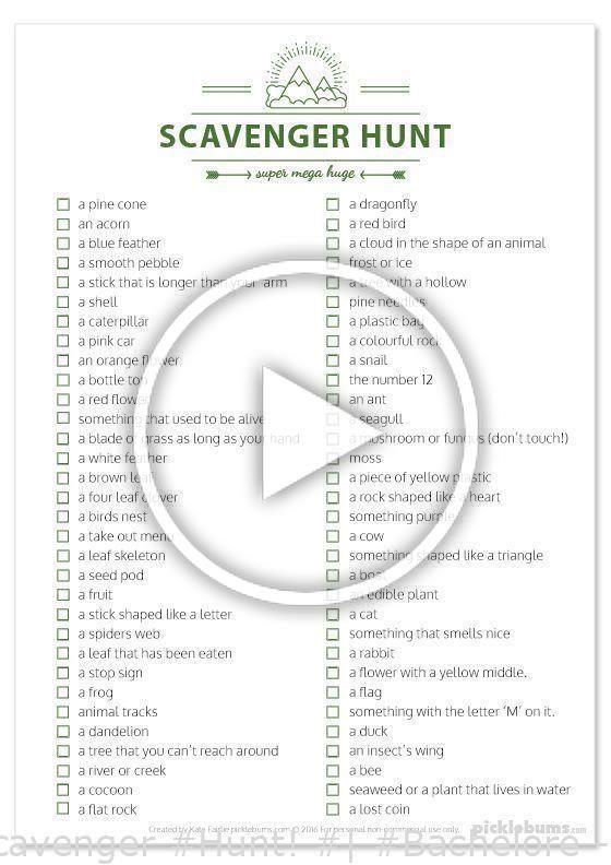 Totally free #Printable #Super #Big #Scavenger #Hunt! #| #