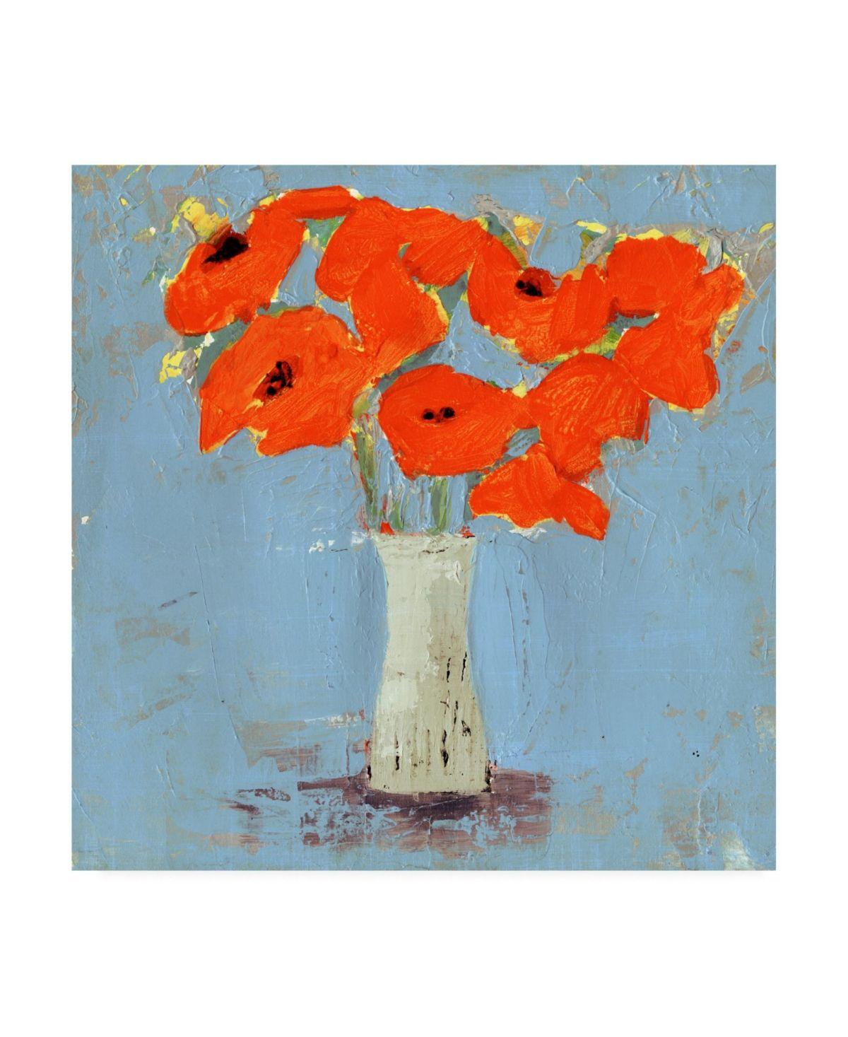 Victoria Borges Orange Poppy Impression I Canvas Art   21