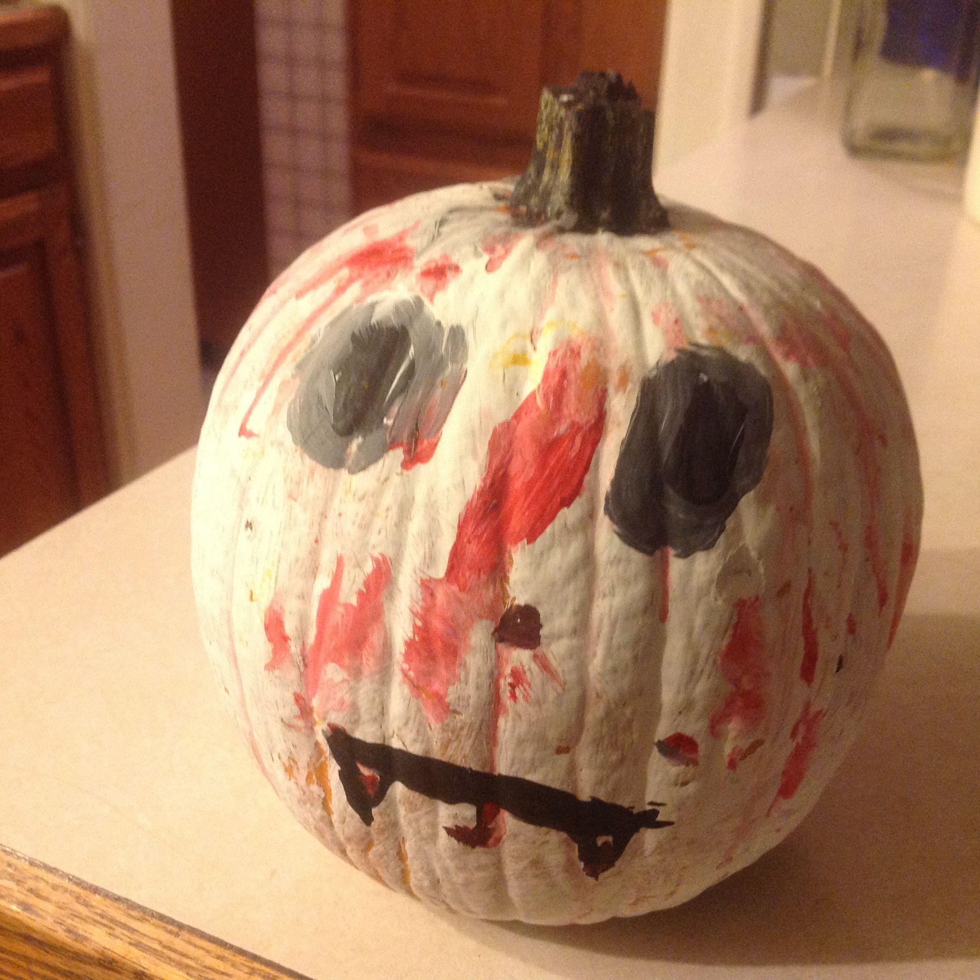 Emma's  painted pumpkin idea