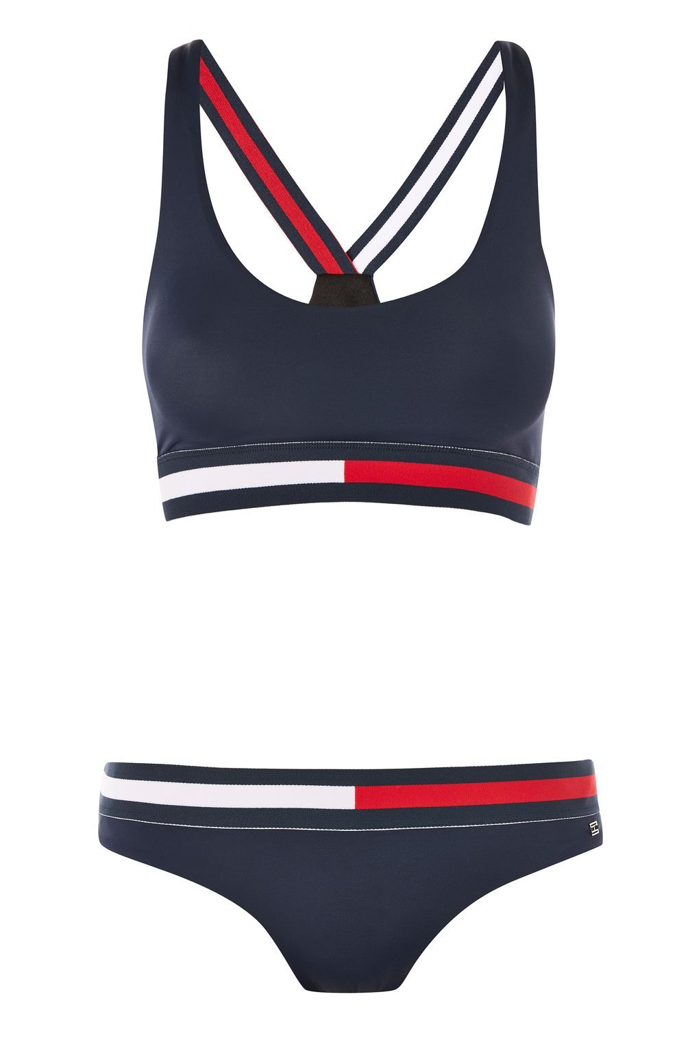 8ce93e77f977 Cross Strap Bikini Top and Bottoms Set by Tommy Hilfiger - Clothing ...