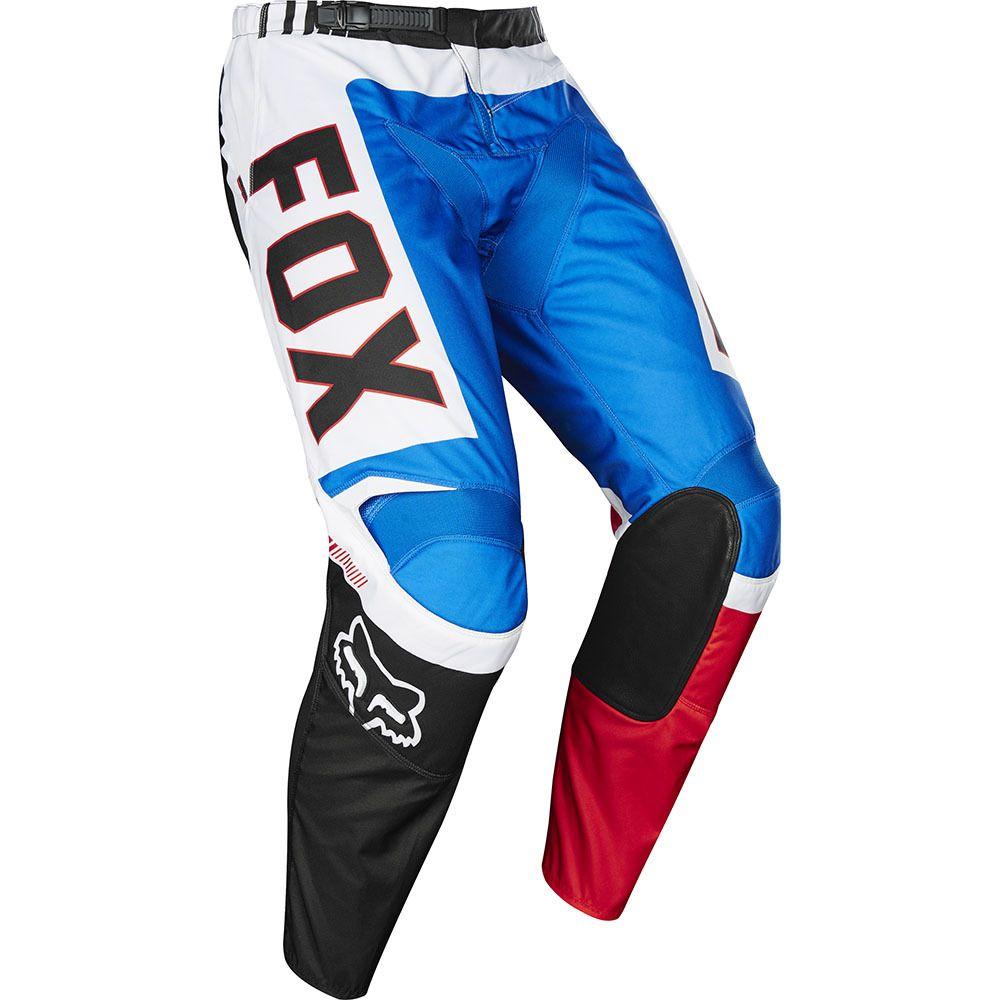 Fox 2017 180 Le Fiend Blue X2f Red Pants Riding Gear Red Pants Bike Gear