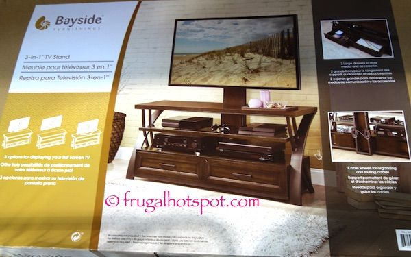 Costco Sale Bayside Furniture 3 In 1 Tv Stand 149 99 Bayside Furniture Furniture Tv Stand
