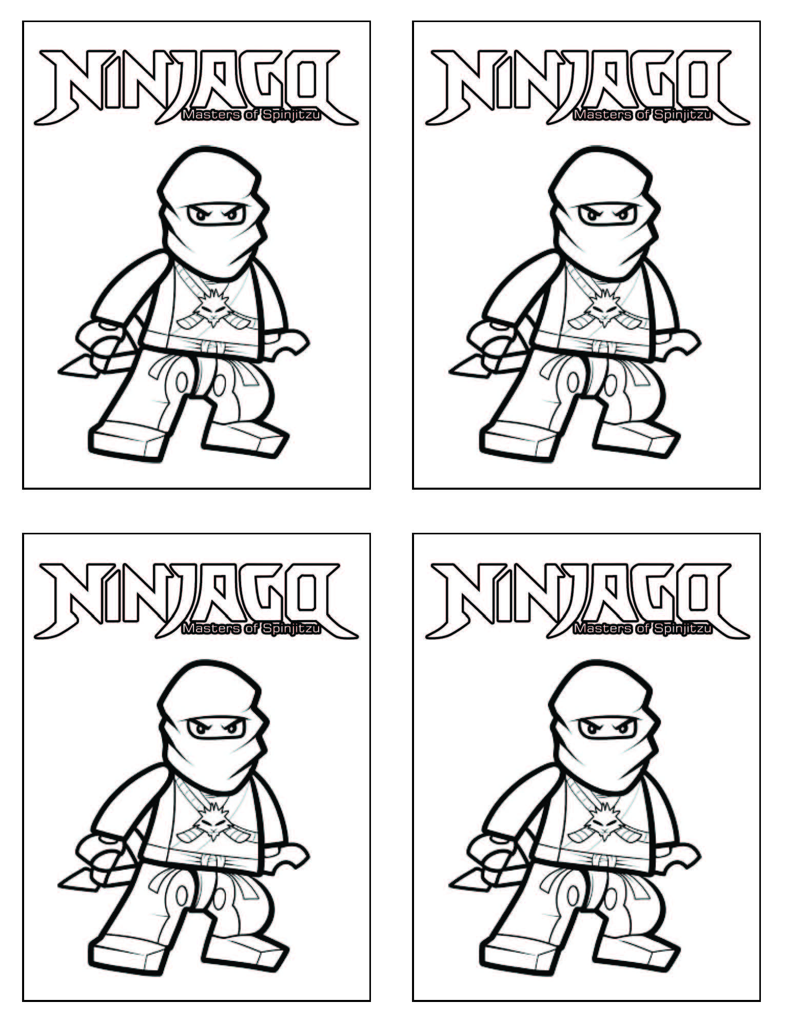 ninjago coloring page small size for a goodie bag