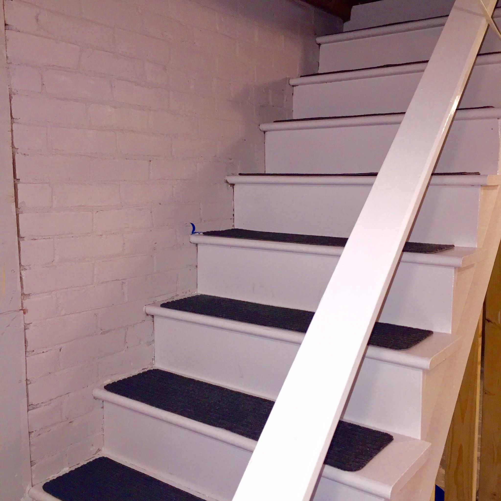 stair treads finished basement pinterest painted stairs stair
