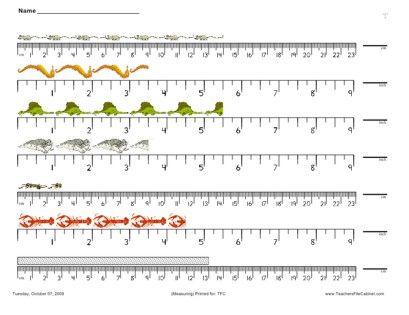1st Grade » 1st Grade Measurement Worksheets - Printable ...