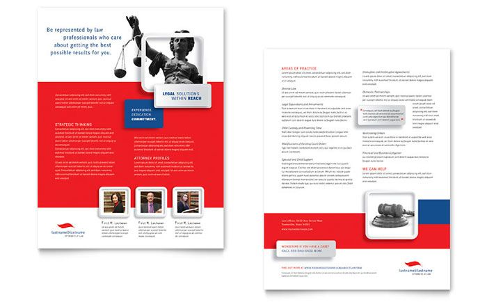 Justice Legal Services Datasheet Template Design by StockLayouts - legal template word