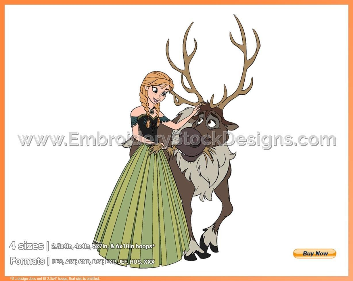 Anna, Sven Frozen Disney Movie Characters in 4 sizes