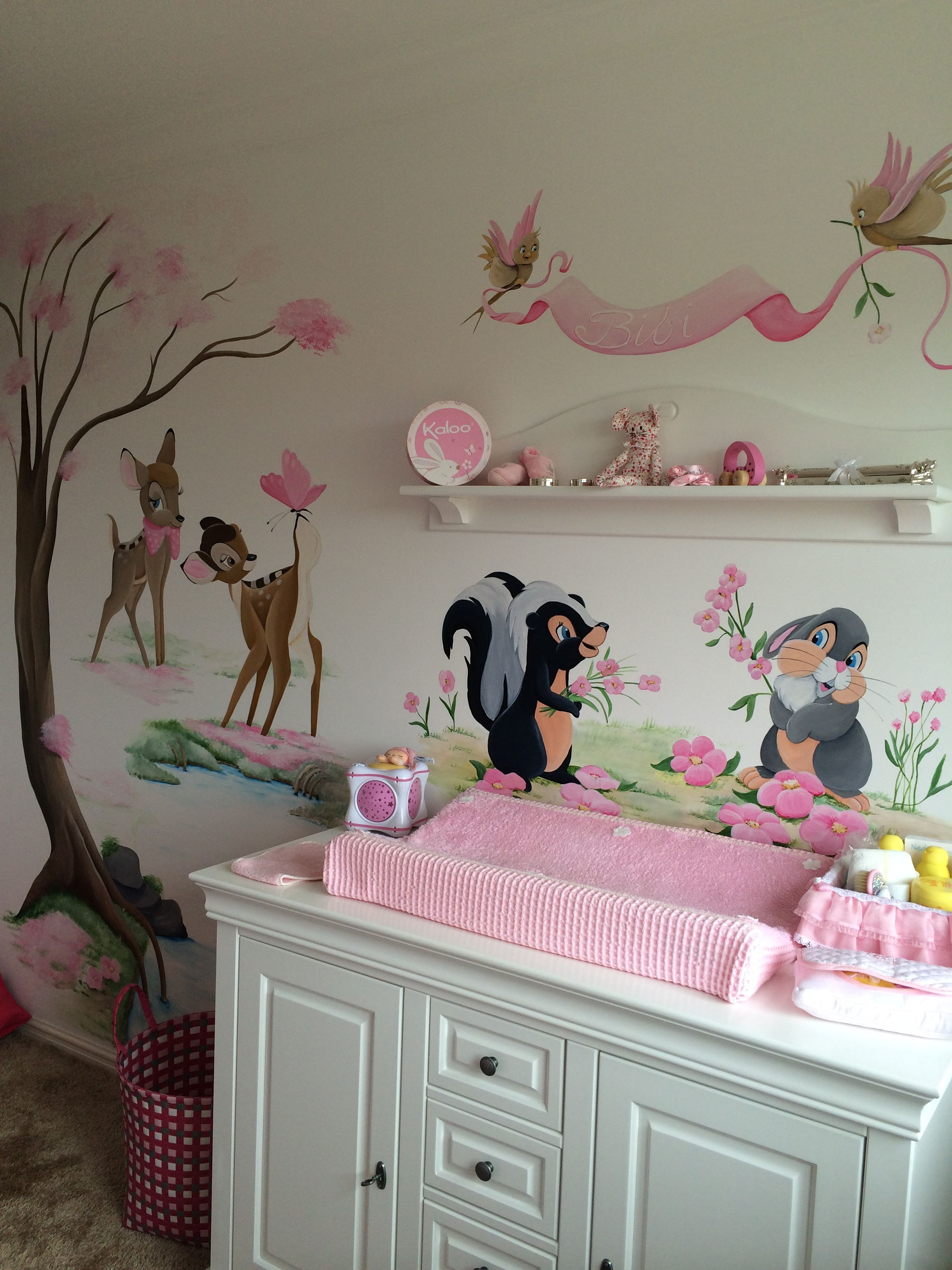 Bambi wall mural google search minnie mickey for Baby room mural ideas