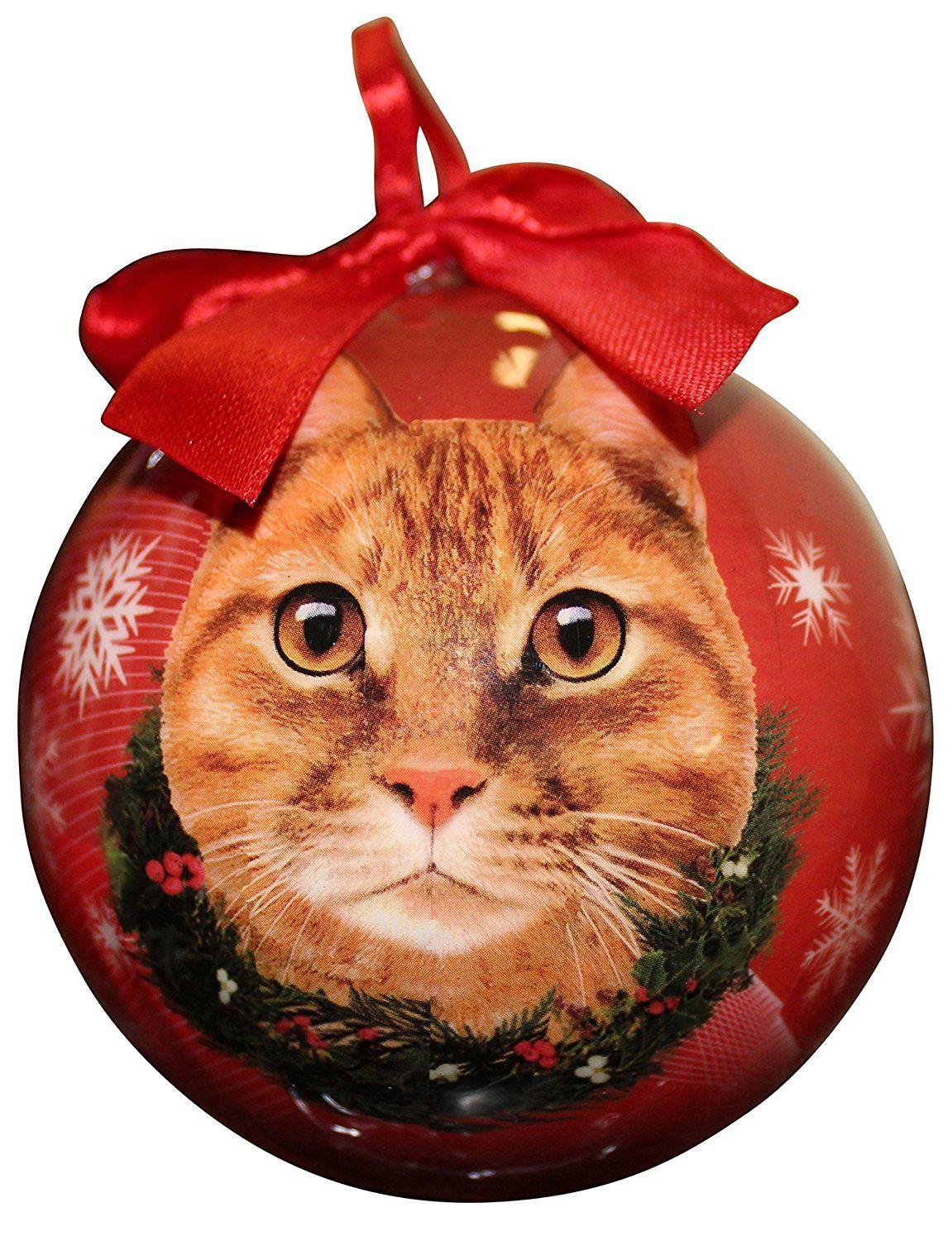 Personalized cat christmas ornaments - Tabby Cat Christmas Ornament Shatter Proof Ball Easy To Personalize A Perfect Gift For Tabby Cat