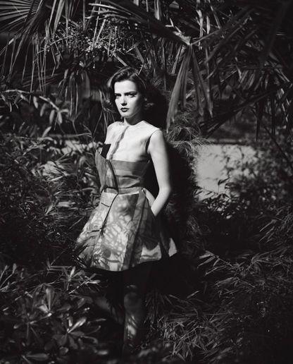 Roxane Mesquida flaunting her figure in a flirty Armani dress