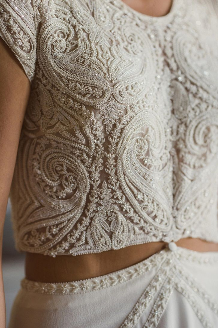 Completely Beautiful Crop Top Wedding Dresses  Bridal gowns