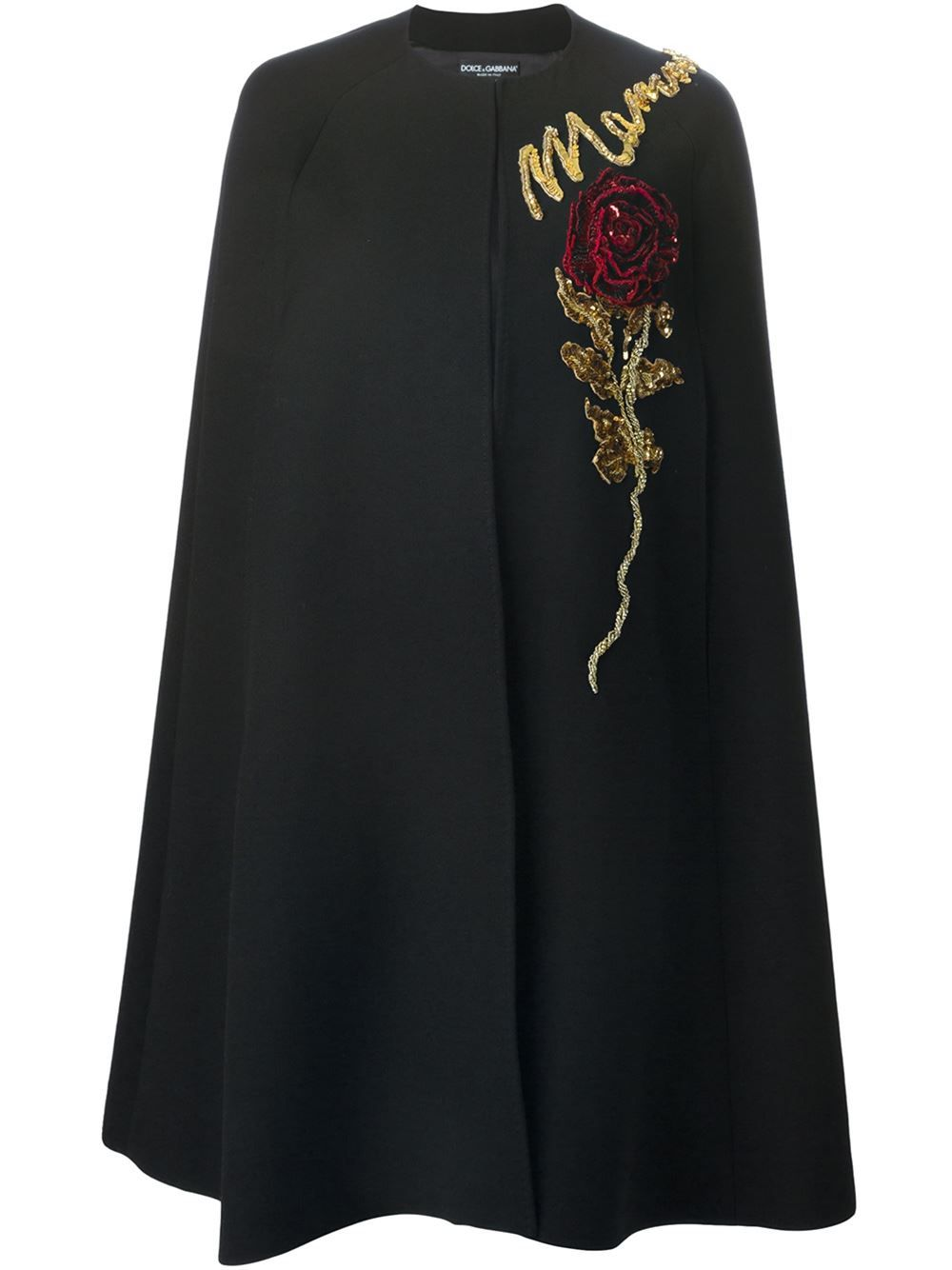 733ef6add08 Dolce   Gabbana Rose Appliqué Cape - Torregrossa - Farfetch.com ...