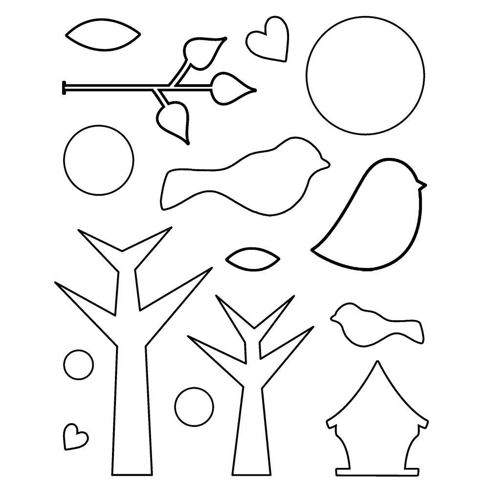 birds templates printable