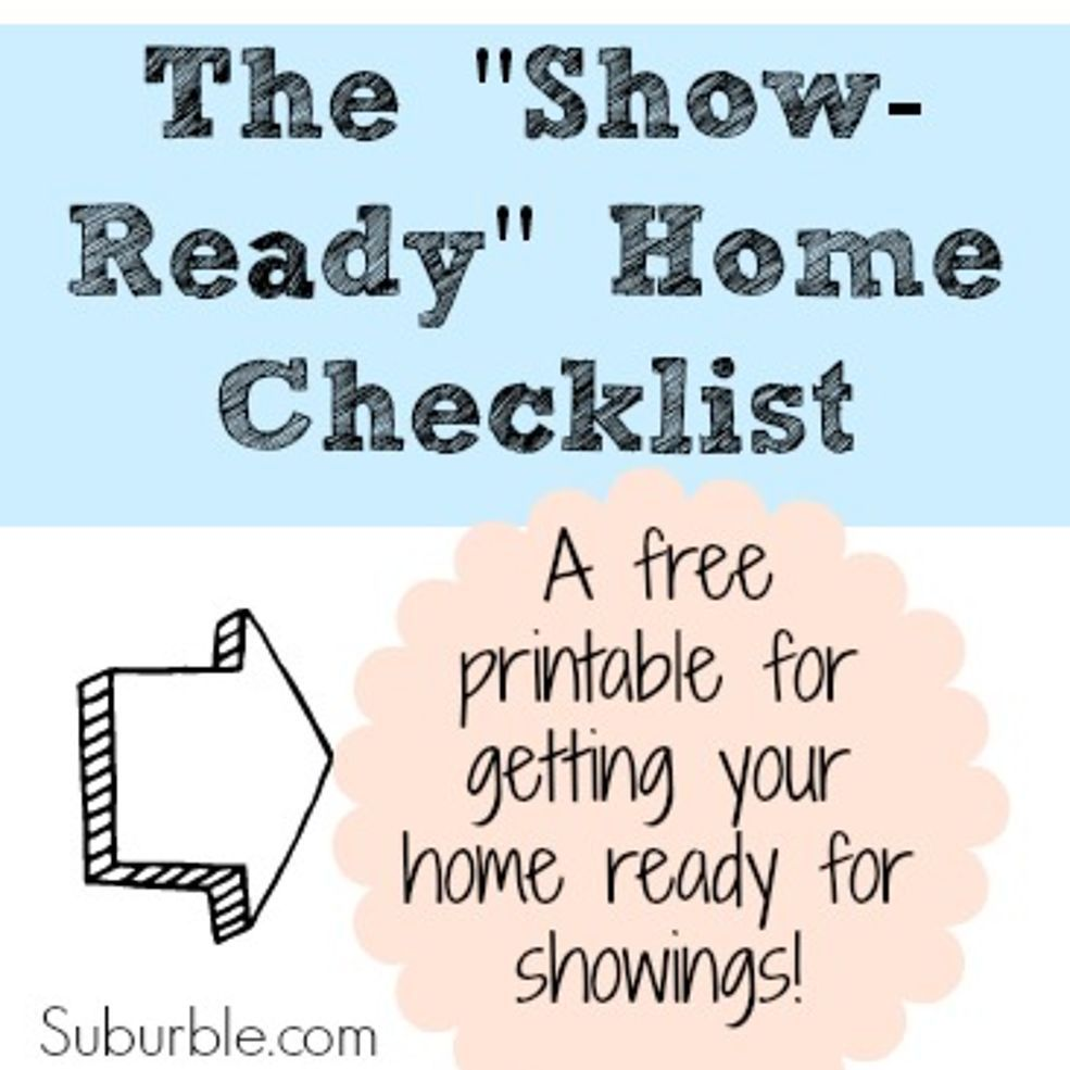 Selling your house checklist - A Checklist For Selling Your Home
