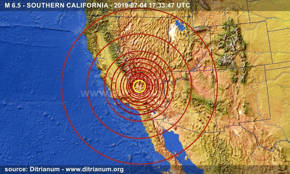 Earthquake M 6 5 Southern California 2019 07 04 17 33 47 Utc