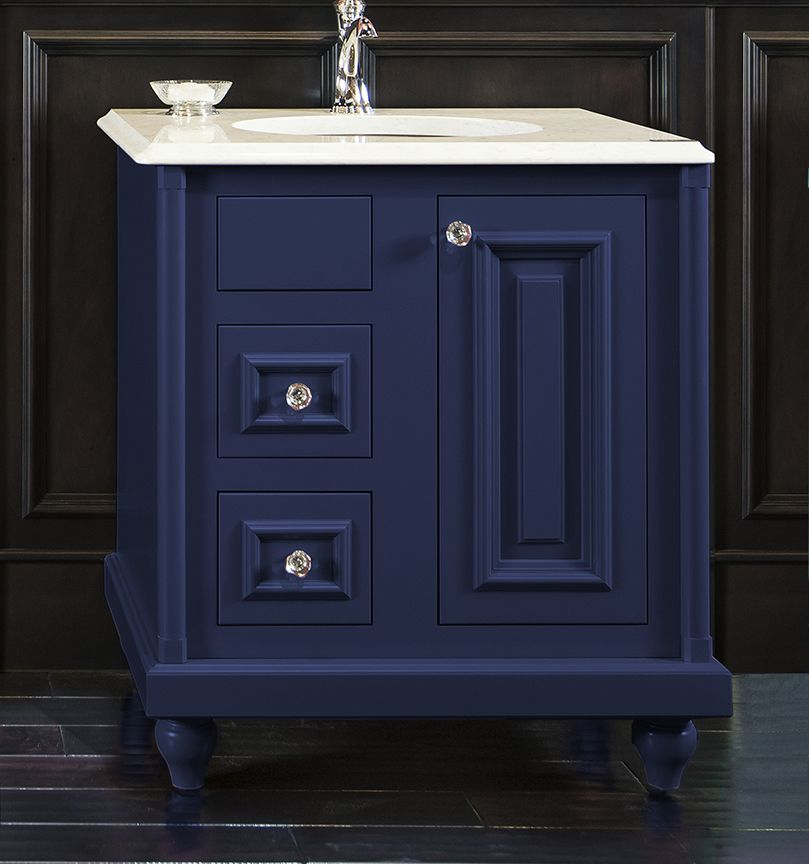 colorinspire by wellborn cabinet in sapphire navy blue bathroom vanity color cabinets. Black Bedroom Furniture Sets. Home Design Ideas