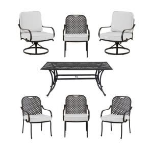 Hampton Bay Fall River 7 Piece Patio Dining Set With Bare Cushion DY11034