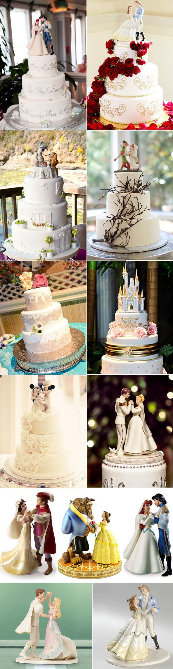 39 Unique  Disney Wedding Cake Toppers