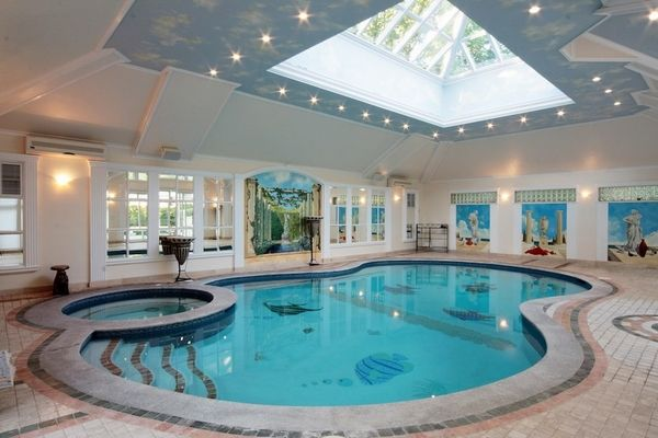 indoor swimming pool ideas home | Swimming Pools in 2019 ...