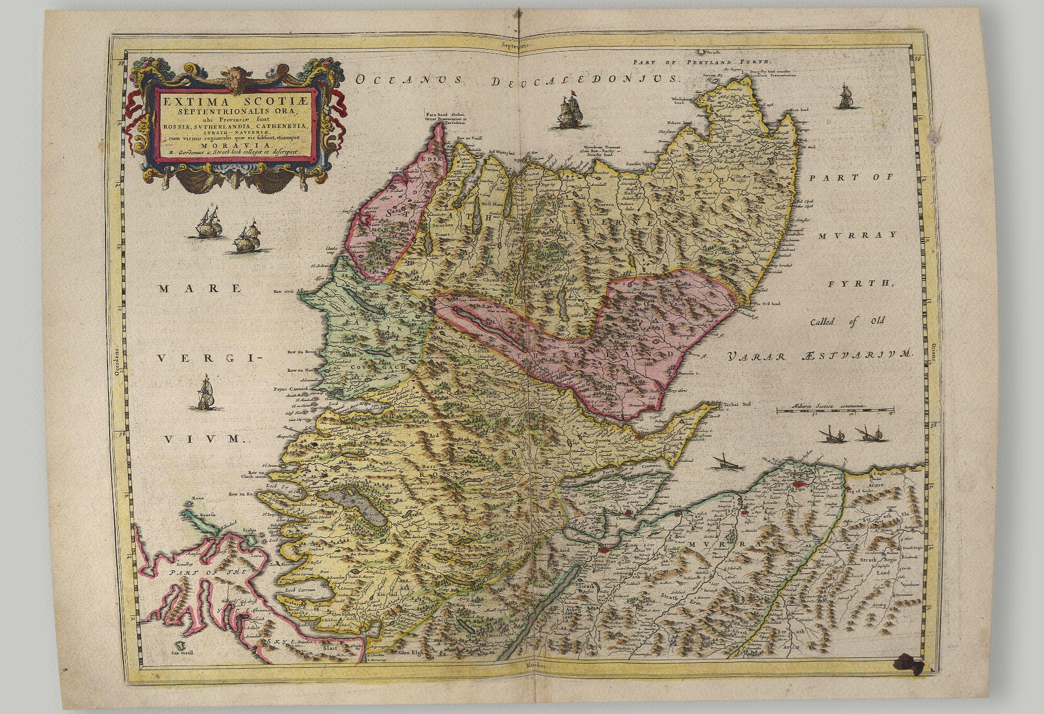 Old Map of The Highlands of Scotland, Scotland   Blaeu Prints – Buy