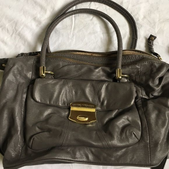 Marc Fisher Crossbody Grey Mark Cross Body With Gold Hard Ware Double Pockets Plus