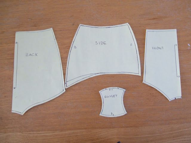 How to make a pattern for high waist panties.