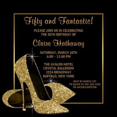 Fifty and Fantastic Invite!!!!