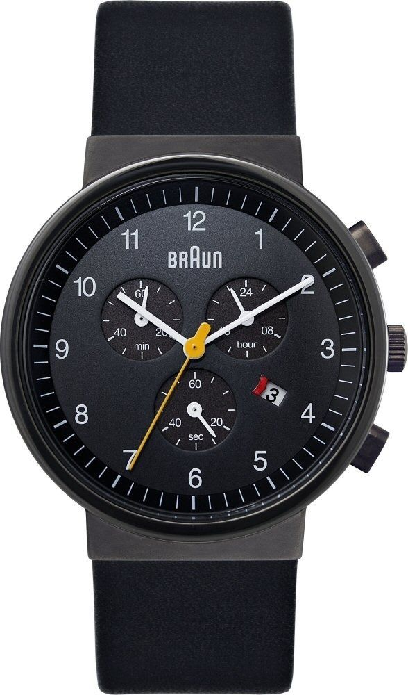 New RRP £215 Braun BN0035BKGNBKG Mens Chronograph Watch | eBay