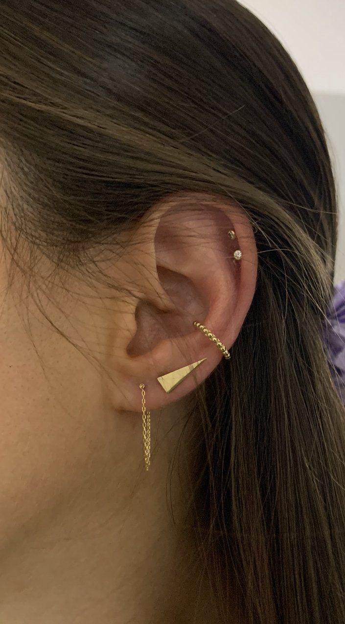 Single Chain Wrap Earring