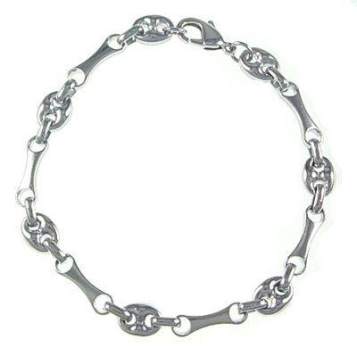 wholesale 18k white plated brass base charm bracelets chain,9.0 inch long,8.0mm width lt005 : OK Charms, China Wholesale Jewelry Accessories Marketplace