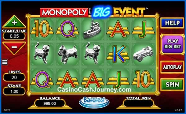 The Popular Monopoly Slot From Land Casinos Comes To The Online Market