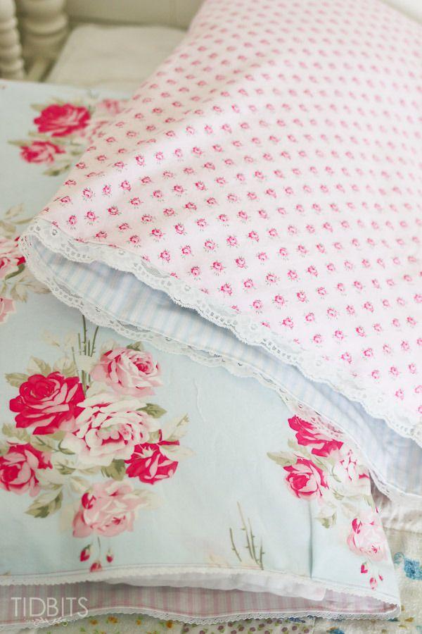 Reversible Pillowcase Tutorial | Costura, Fundas para almohadas y Camas
