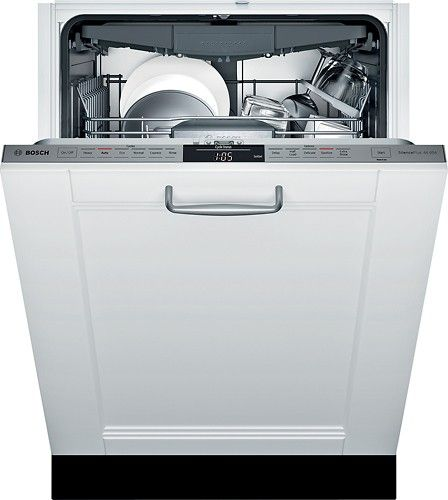 Bosch 800 Series 24 Tall Tub Built In Dishwasher With Stainless Steel Tub Custom Panel Ready Alterna Built In Dishwasher Steel Tub Integrated Dishwasher