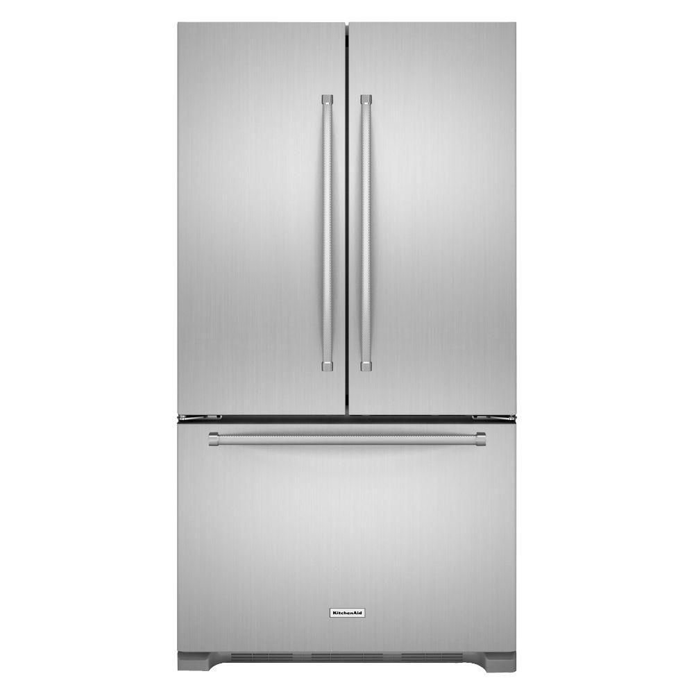 Kitchenaid cu ft french door refrigerator in stainless steel