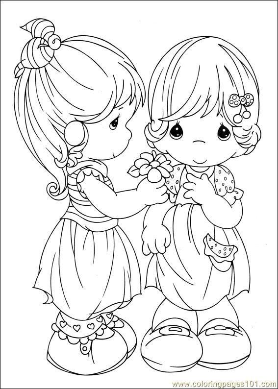 Sweet little girls to color | Coloring book | Pinterest | Precioso ...
