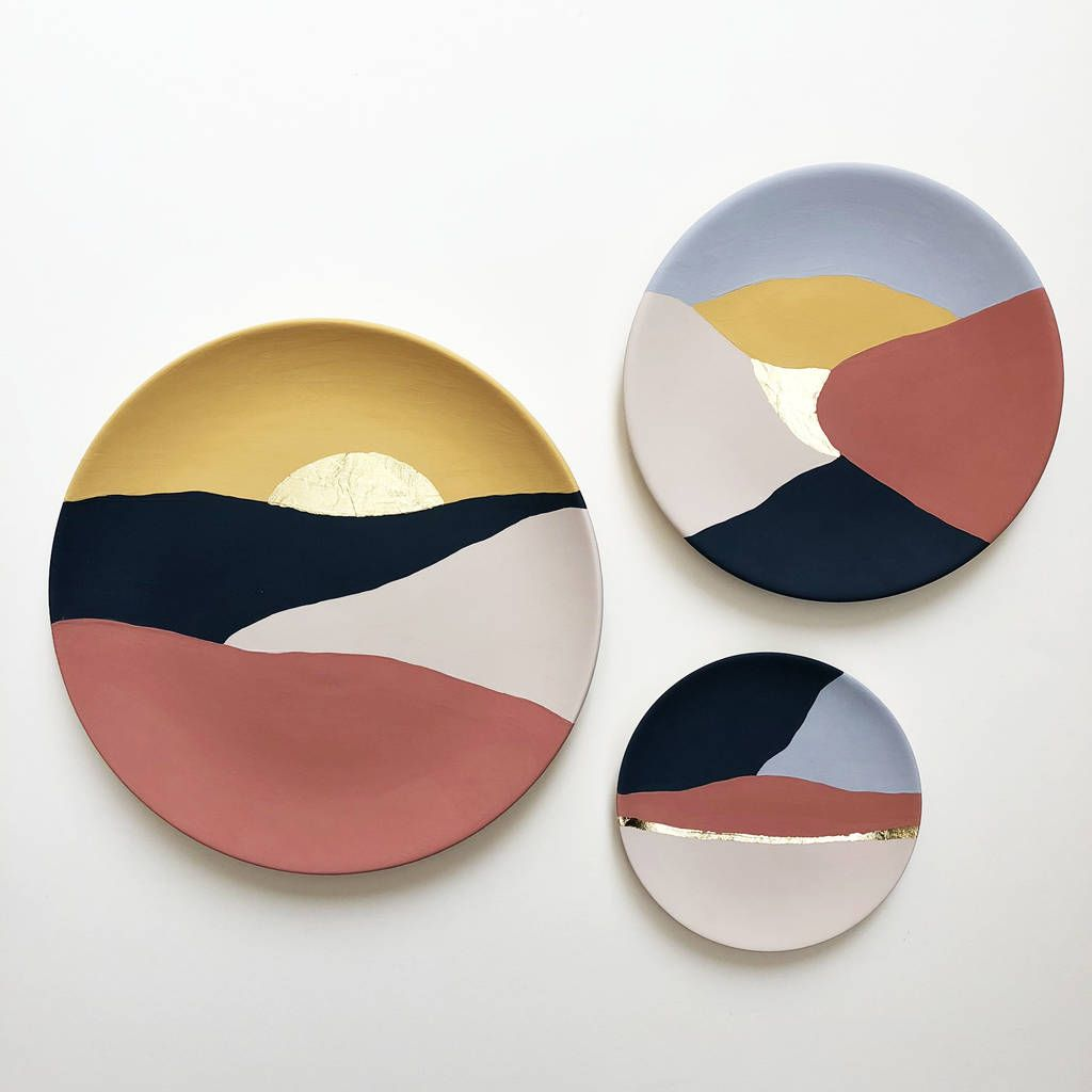 Landscapes Hand Painted Wall Plates