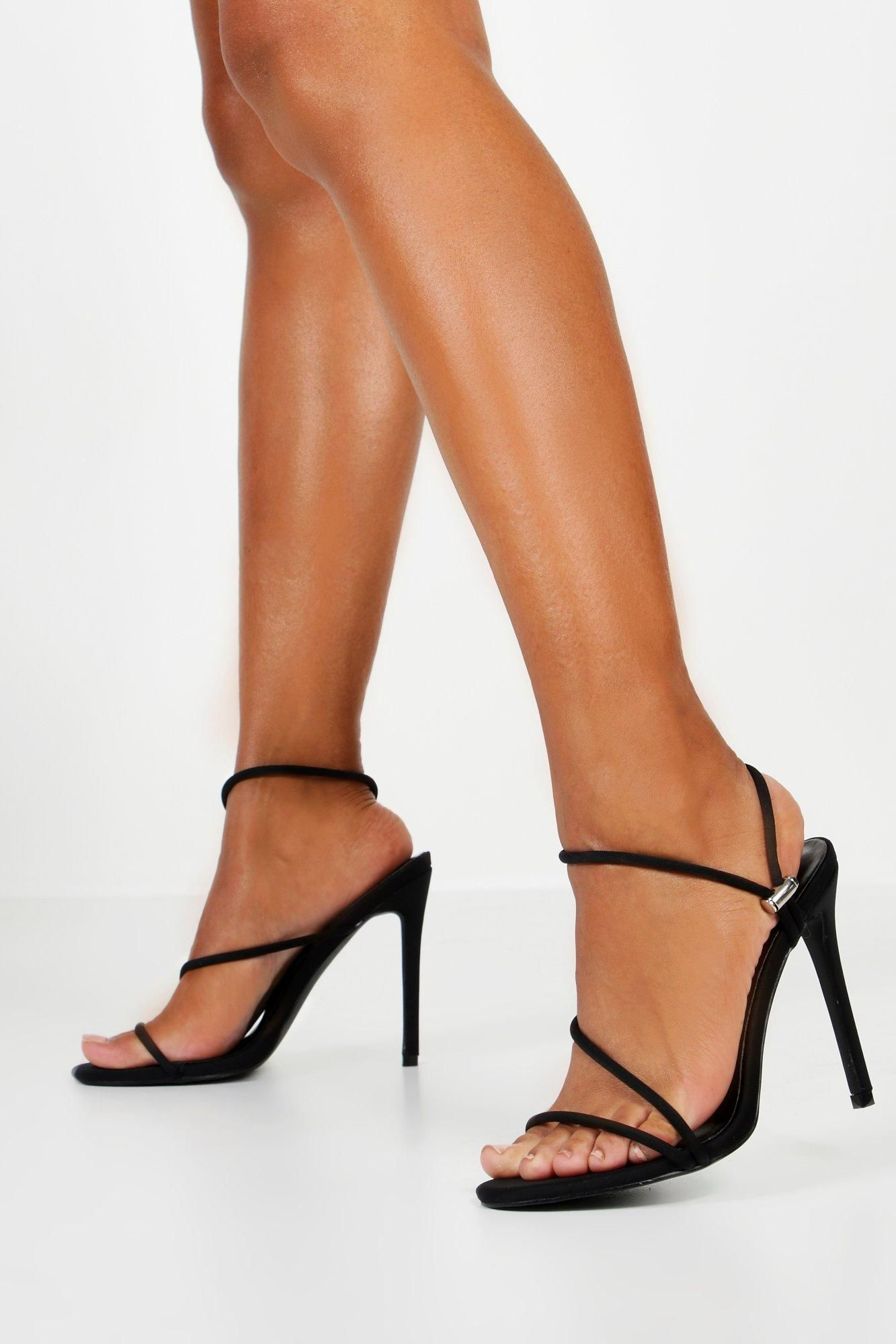 Toggle Pull Strappy Heels | boohoo in