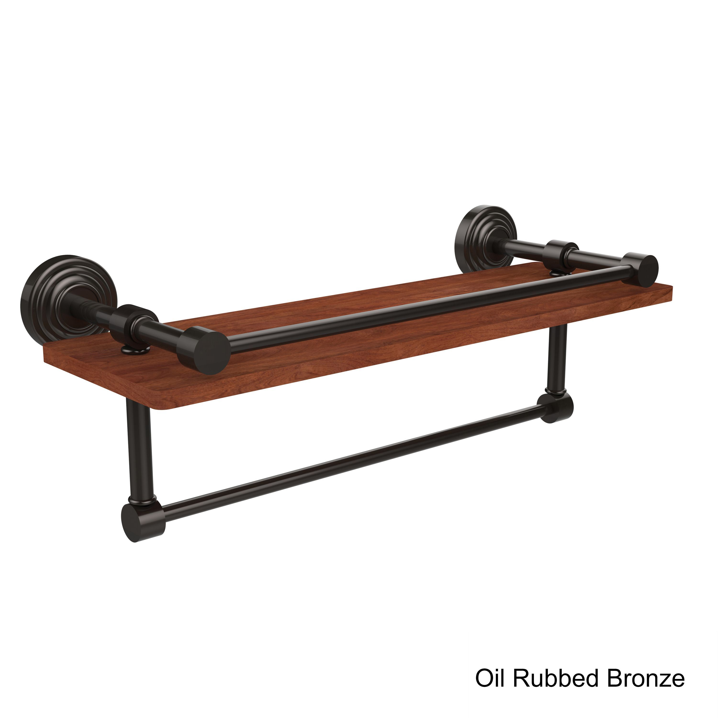 Allied Wood and Brass IPE Ironwood 16-inch Shelf and Towel Bar ...