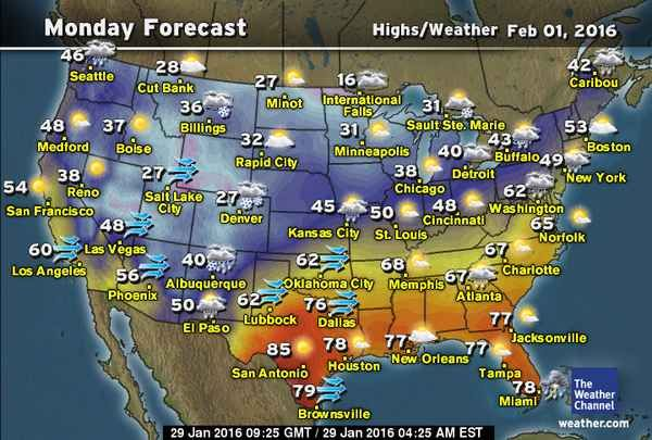 10 Day Forecast Weather Map Weather Com The Weather Channel Todays Forecast National Weather