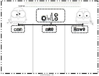 Owls Kwl Chart  First Day Of SchoolBack To School