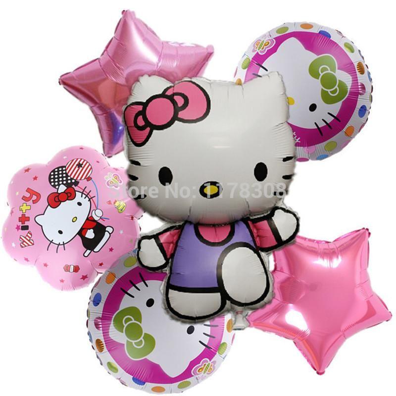 Hello kitty foil air Balloons Kids Classic Toys Birthday Party