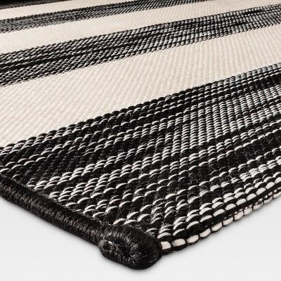 9 X 12 Outdoor Rug Worn Stripe Black Threshold Outdoor Rugs Outdoor Rugs Patio Outdoor Carpet