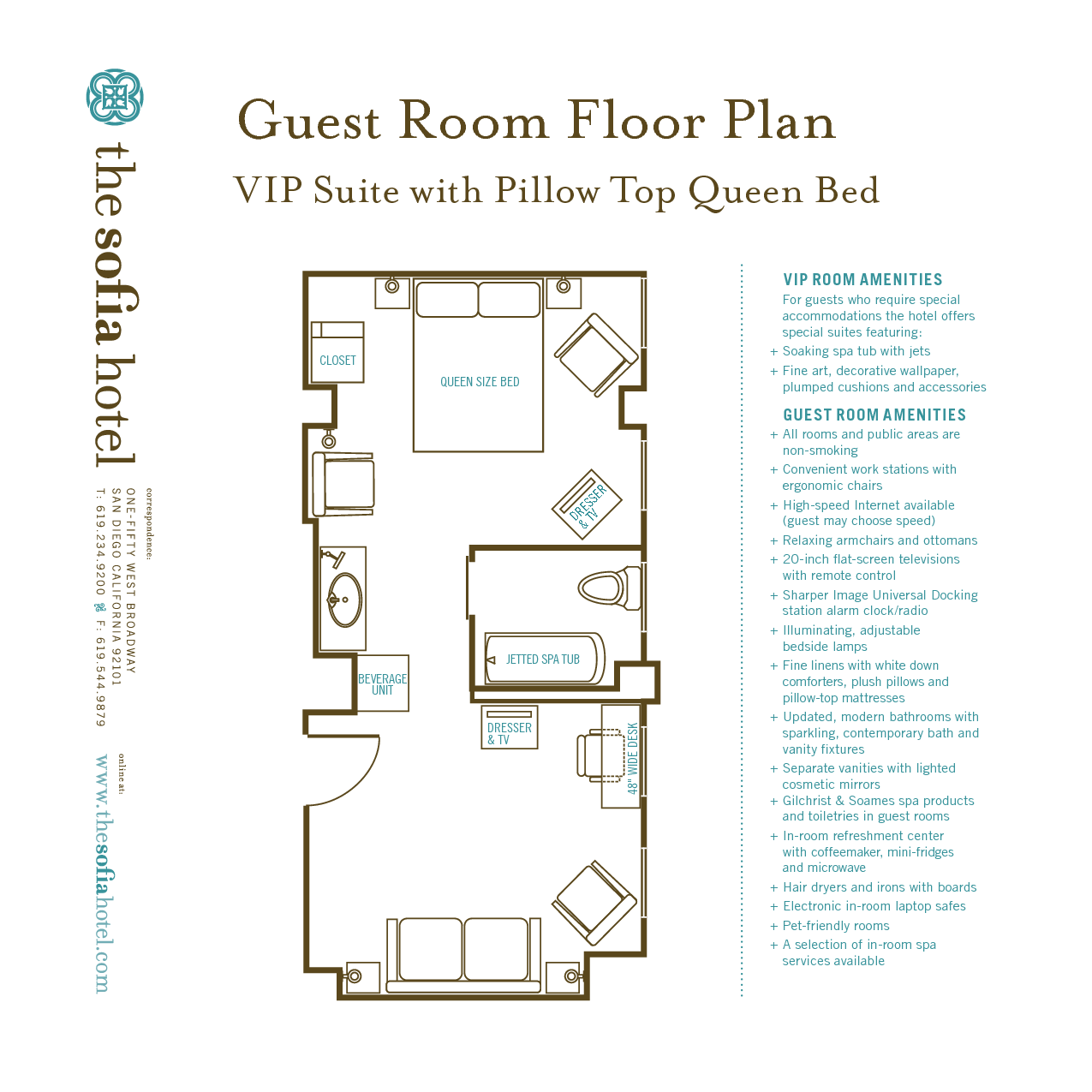 Typical Hotel Room Floor Plan | Scope Of Work Template