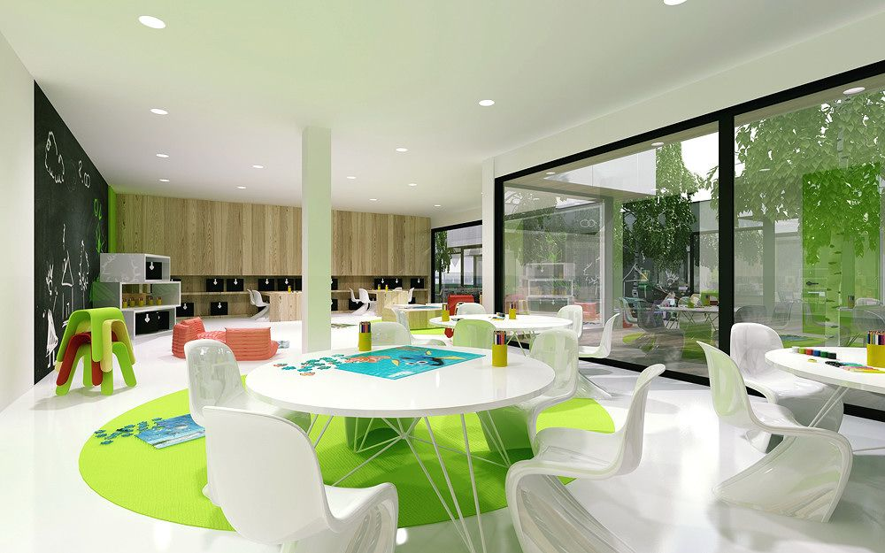 Minimalist Classroom Ideas ~ Minimalist kindergarten design with modern architecture